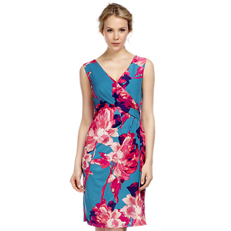 Buy Kaliko Georgia Dress, Multi Teal Online at johnlewis.com