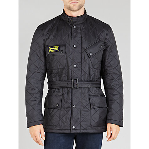 Buy Barbour International Grasstrack Quilted Jacket, Black Online at johnlewis.com
