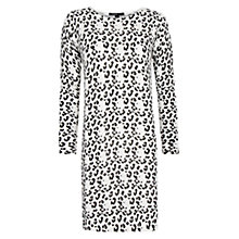 Buy Mango Animal Print Sleeved Dress, Natural White Online at johnlewis.com