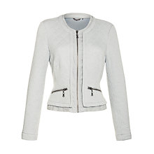 Buy Sandwich Quilted Zip Jacket, Light Sky Online at johnlewis.com