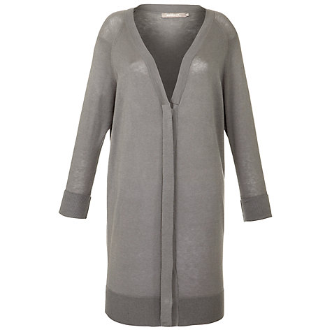 Buy Sandwich Long Button Cardigan, Stone Online at johnlewis.com