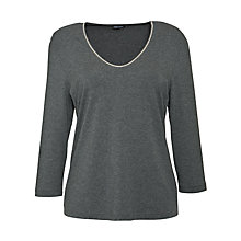 Buy Gerry Weber Beaded Neckline Top, Grey Online at johnlewis.com