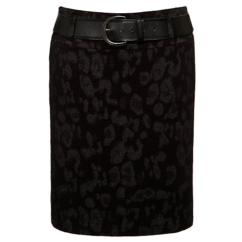 Buy Gerry Weber Animal Skirt, Black Online at johnlewis.com