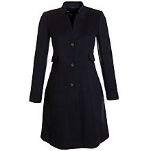Buy Tara Jarmon High Collar Coat, Marine Online at johnlewis.com