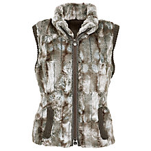 Buy Gerry Weber Fur Gilet, Brown/Cream Online at johnlewis.com