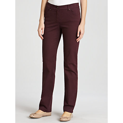Buy Gerry Weber Roxy Perfect Fit Slim Jeans, Plum Online at johnlewis.com