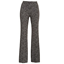 Buy Tara Jarmon Textured Trousers, Noir Online at johnlewis.com