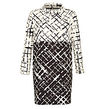 Buy Tara Jarmon Contrast Print Dress, Noir Online at johnlewis.com