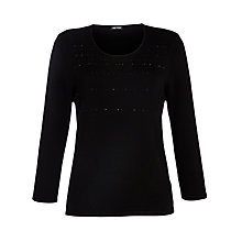 Buy Gerry Weber Sparkle Knit Jumper, Black Online at johnlewis.com