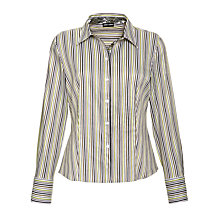 Buy Gerry Weber Striped Shirt, Green Online at johnlewis.com