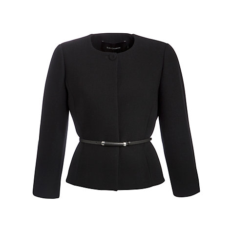 Buy Tara Jarmon Collarless Jacket, Noir Online at johnlewis.com
