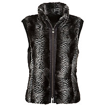Buy Gerry Weber Fur Gilet, Black Online at johnlewis.com
