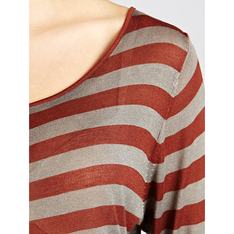 Buy Sandwich Fine Knit Stripe Jumper, Stone/tobasco Online at johnlewis.com