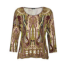 Buy Gerry Weber Paisley T-Shirt, Multi Online at johnlewis.com