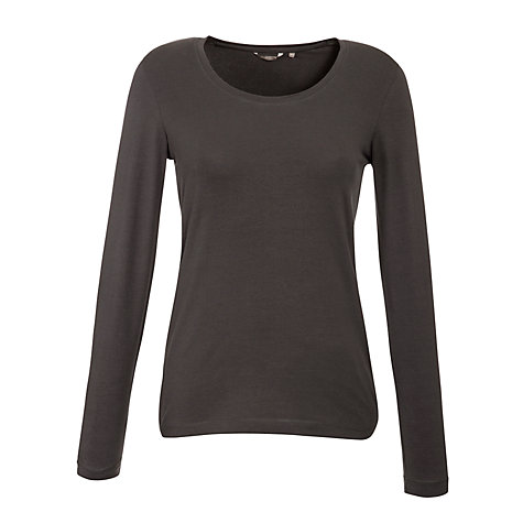 Buy Sandwich Scoop Neck Long Sleeve Top, Slate Grey Online at johnlewis.com