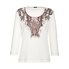 Buy Gerry Weber Paisley Detail Top, White Online at johnlewis.com