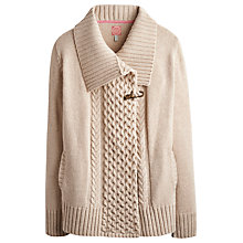 Buy Joules Chelmer Chunky Cardigan, Almond Online at johnlewis.com