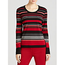 Buy Gerry Weber Striped Jersey Top, Multi Online at johnlewis.com