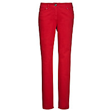 Buy Gerry Weber Straight Leg Jeans, Red Online at johnlewis.com