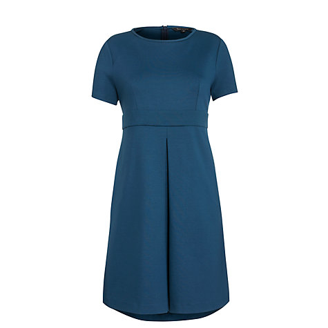 Buy Tara Jarmon Pleat Front Dress, Bleu Canard Online at johnlewis.com