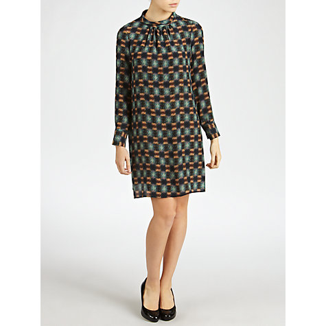 Buy Tara Jarmon Print Dress, Bleu Canard Online at johnlewis.com