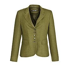 Buy Gerry Weber Herringbone Jacket, Green Online at johnlewis.com