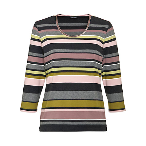 Buy Gerry Weber Striped Jersey T-Shirt, Multi Online at johnlewis.com
