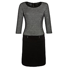 Buy Gerry Weber Zip Pocket Colour Block Dress, Black Online at johnlewis.com