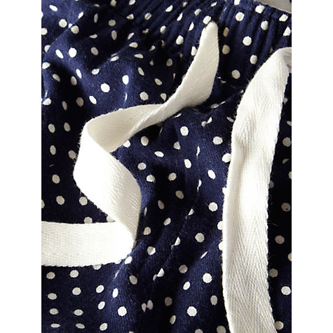 Buy Rampant Sporting Spot Pyjama Bottoms, Navy Online at johnlewis.com