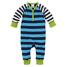 Buy Polarn O. Pyret Jolly Stripe Bodysuit, Navy/Sky Blue Online at johnlewis.com