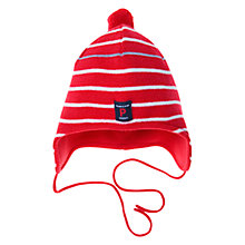 Buy Polarn O. Pyret Striped Bobble Hat Online at johnlewis.com