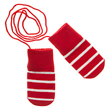 Buy Polarn O. Pyret Mittens on a String Online at johnlewis.com