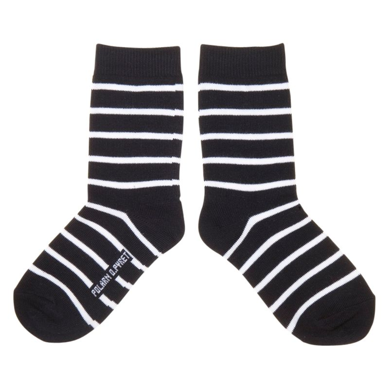 Polarn O. Pyret Striped Socks, Pack of 2, Navy