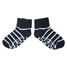 Buy Polarn O. Pyret Anti-Slip Striped Socks, Pack of 2 Online at johnlewis.com