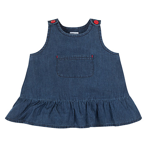 Buy Polarn O. Pyret Denim Frill Dress, Denim Online at johnlewis.com