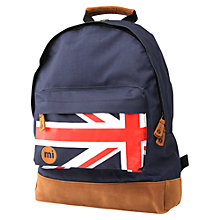 Buy Mi-Pac Flag Rucksack, Navy Blue Online at johnlewis.com