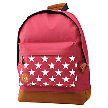 Buy Mi-Pac Stars Backpack, Burgundy Online at johnlewis.com