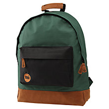 Buy Mi-Pac Two-Tone Rucksack, Green/Black Online at johnlewis.com