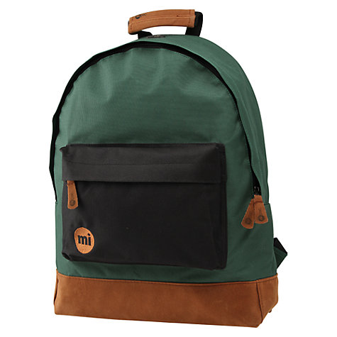 Buy Mi-Pac Two-Tone Backpack, Green/Black Online at johnlewis.com