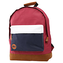 Buy Mi-Pac Tri-Tone Rucksack, Red Online at johnlewis.com