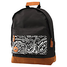 Buy Mi-Pac Paisley Backpack, Black Online at johnlewis.com