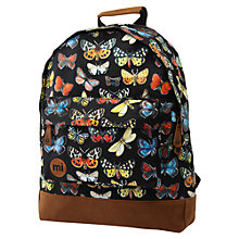 Buy Mi-Pac Specimen Butterfly Rucksack, Black Online at johnlewis.com
