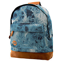 Buy Mi-Pac Denim Dye Backpack, Blue Online at johnlewis.com
