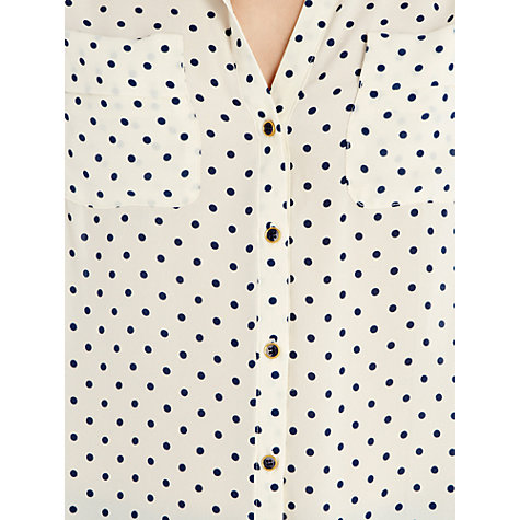 Buy Oasis Spot Shirt, White Online at johnlewis.com