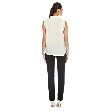 Buy Warehouse Stitch Detail Work Wear Trousers, Black Online at johnlewis.com
