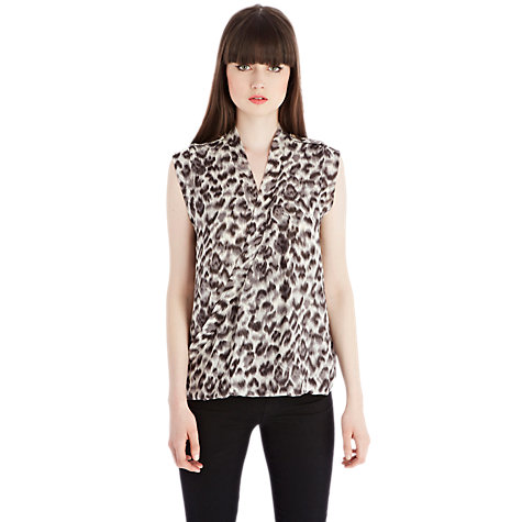 Buy Oasis Vanessa Top, Animal Online at johnlewis.com