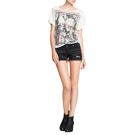 Buy Mango Skull Print T-Shirt Online at johnlewis.com