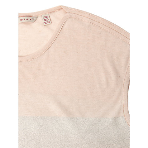 Buy Ted Baker Holley Striped Detail T-Shirt, Shell Online at johnlewis.com