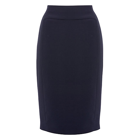 Buy Hobbs Millais Skirt, Navy Online at johnlewis.com