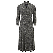 Buy Viyella Rice Print Jersey Dress, Navy Online at johnlewis.com